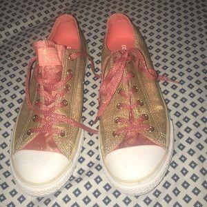 Glitter gold converse